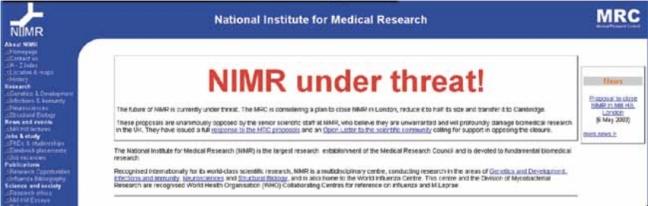 NIMR_under_threat